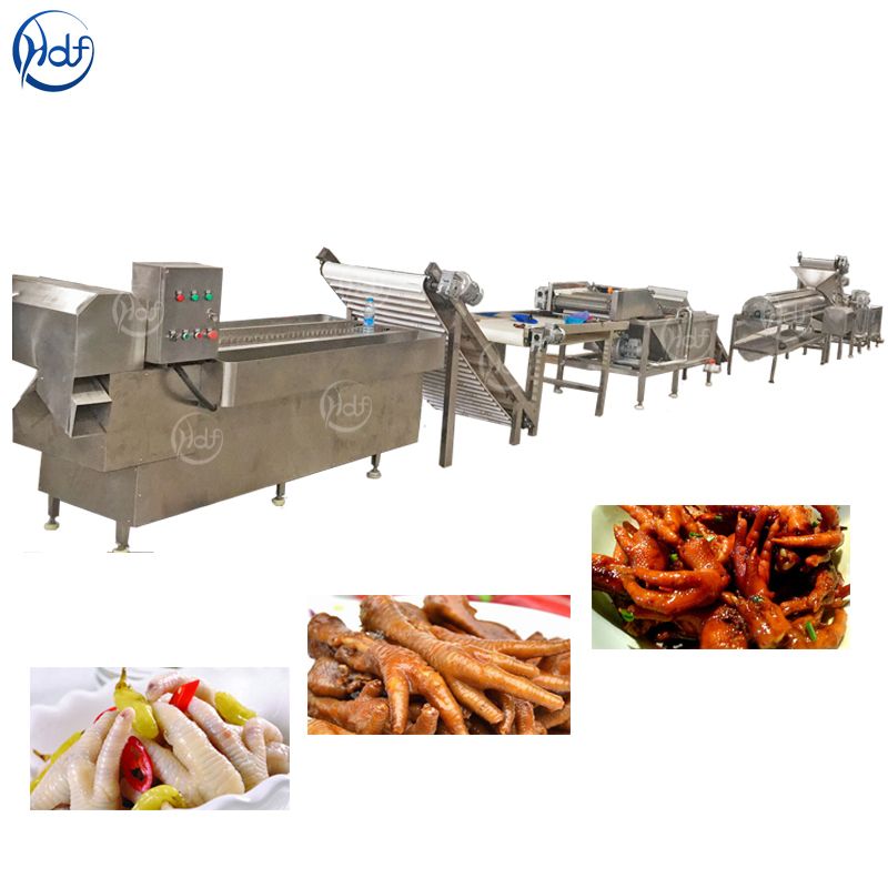 Chicken Feet Cleaning Cooking Processing Line Food Machine