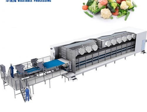 HSD-1000 IQF Fluidized quick freezing machine for french fries