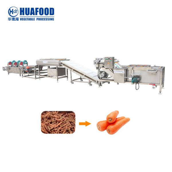 Carrot processing line