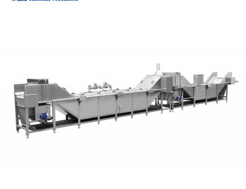 Glass bottle continuous spray cleaning sterilization line