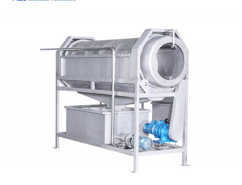 HLT-2400 barrel conveyor washing machine for food bag carrot ginger