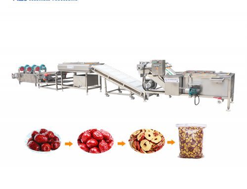 Fruits and vegetables flip air drying machine food packaging bag cleaning air drying production line
