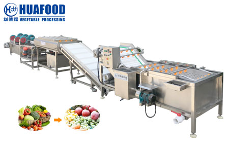 Vegetable fruit cleaning production line