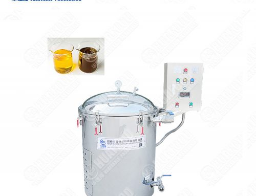 Used filtering machine for deep fryer oil