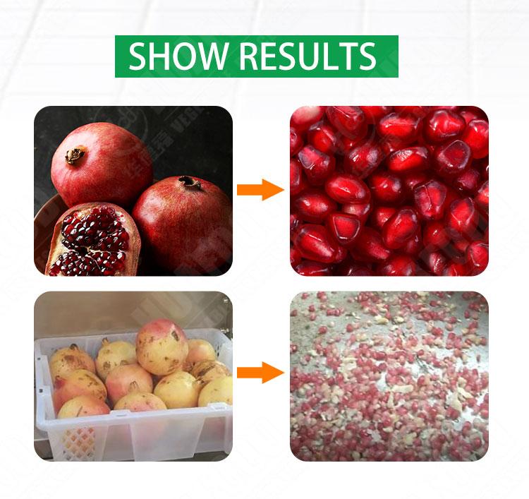 pomegranate seeds remove machine