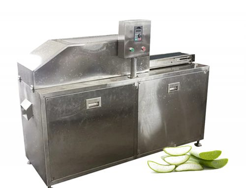 Aloe vera leaf peeling machine / automatic aloe vera gel extraction machine