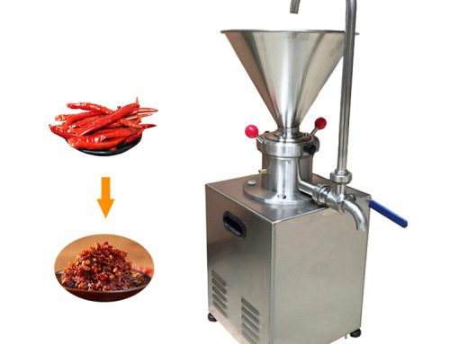 Crushing Colloid Mill Chicken Bone Butter Peanut Sauce Chilli Grinding Machine