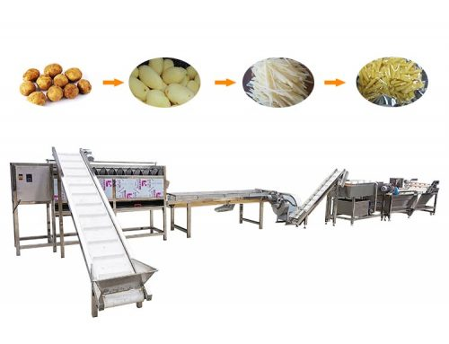 Potato french fries washing processing line / potato strip processing line