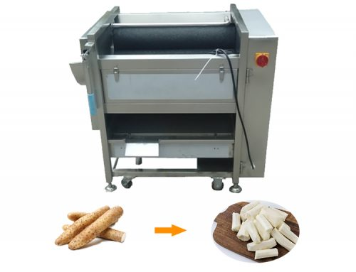 Brush rolling peeler machine cassava emery yam washing peeling machine