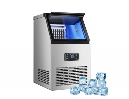 Full-automatic small-scale milk tea shop bar desktop bucket water cube ice machine ice cube making machine