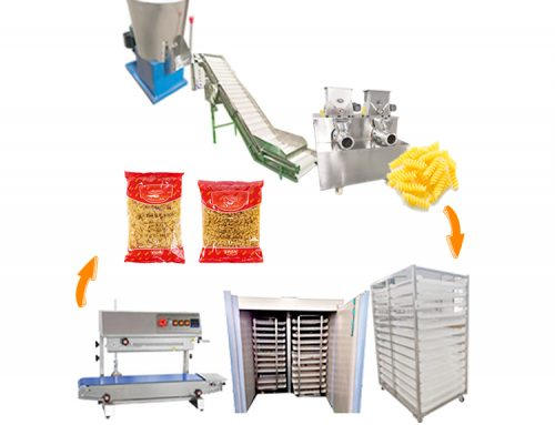 Automatic Electric Industrial Macaroni Pasta Extruder Production Line Making Machines