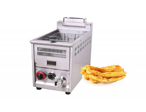 Small Single Tank Table Top Gas Deep Fryer Kitchen Equipment